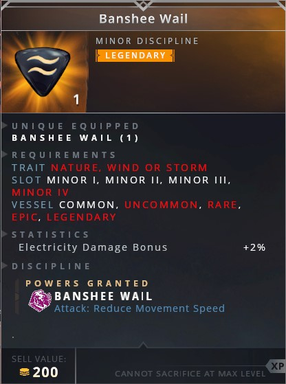 Banshee Wail • banshee wail (attack: reduce movement speed)