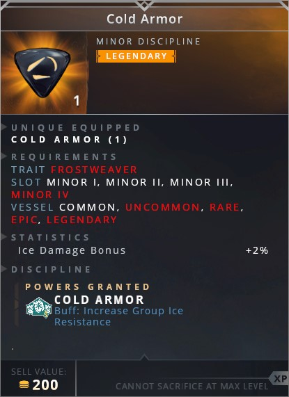 Cold Armor	• cold armor (buff: increase group ice resistance)