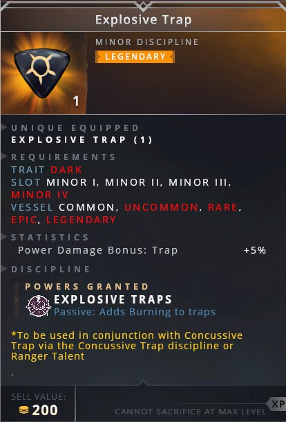 Explosive Trap	• explosive trap (passive adds burning to traps)