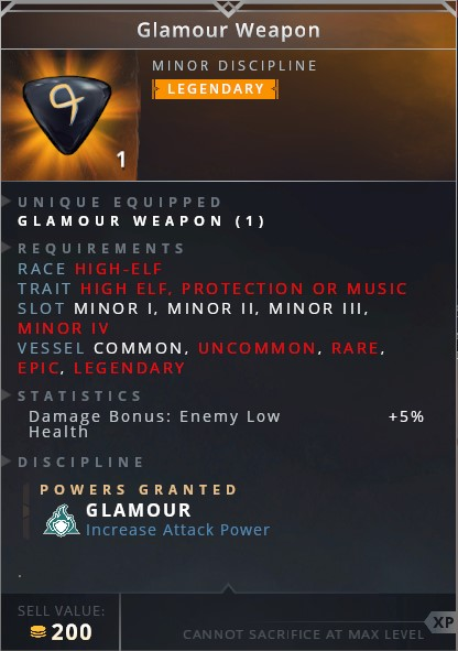Glamour Weapon • glamour (increase attack power)