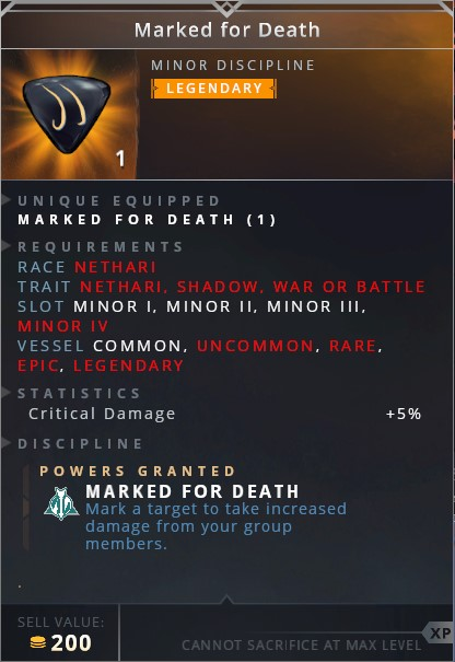 Marked For Death • marked for death (mark a target to take increased damage from your group members)