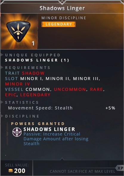 Shadows Linger • shadows linger (passive: incerase critical damage amount after losing stealth)