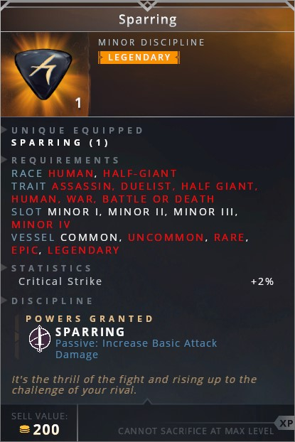 Sparring • sparring (passive: increases basic attack damage)