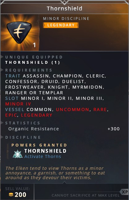 Thornshield • thornshield (activate thorns)