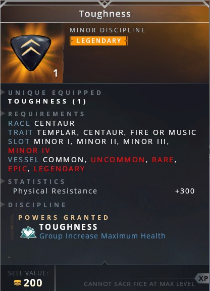 Toughness • toughness (group increase maximum health)