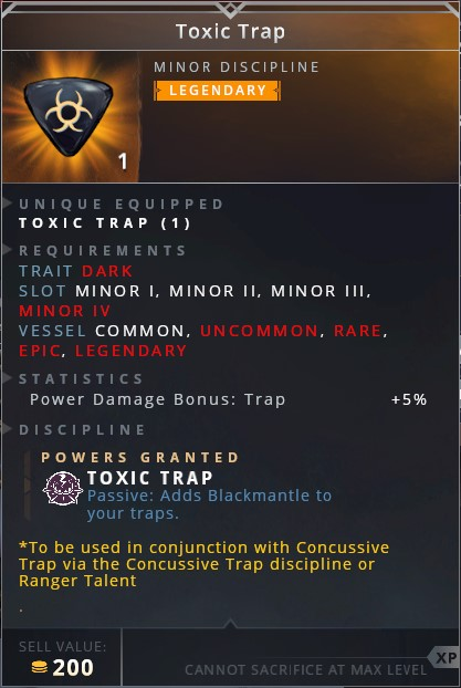 Toxic Trap • toxic trap (passive: adds blackmantle to yout traps)