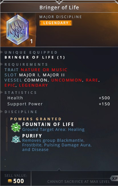 Bringer Of Life • fountain of life (ground target area: healing)• purify (removes group blackmantle, frostbite, pulsing damage aura and disease)