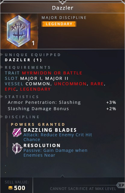 Dazzler • dazzling blade (attack: reduce enemy crit hit chance)• resolution (passive: gain damage when enemies near)