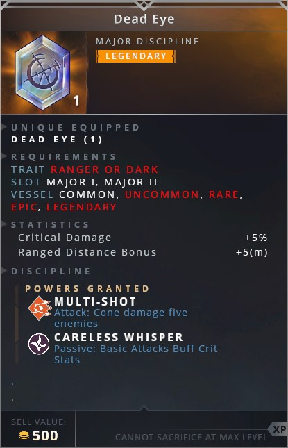 Dead Eye • multi-shot (attack: cone damage five enemies)• careless whisper (passive: basic attacks buff crit stats)