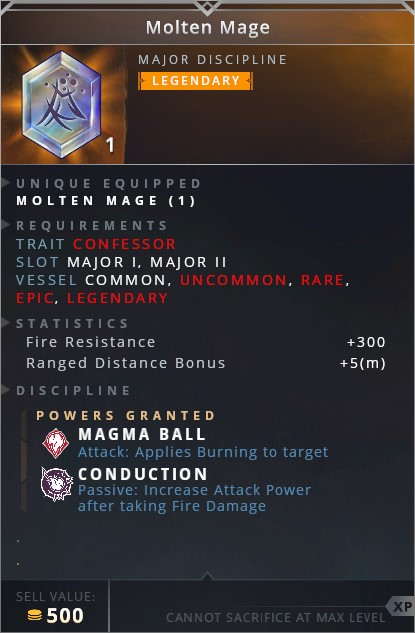 Molten Mage • magma ball (attack: applies burning to target)• conduction (passive: increase attack power after taking fire damage)