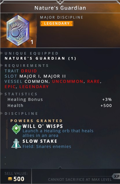 Natures Guardian • will o' wisp (launch a healing orb that heals allies in an area)• slow stake (field: snares enemies)